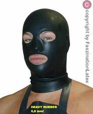 """Latex Maske """"HEAVY RUBBER"""" in 0,8 mm mit Reißverschluss für IHN in SCHWARZ"""