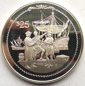 British Virgin 1992 Columbus Group 25 Dollars Silver Coin,Proof