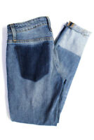 Joes Womens MH79IY The Icon Mid-Rise Distressed Patched Raw Edge Skinny Jeans Si