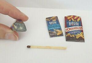 3 Sachets Chips  Aliment Factice Maison Poupée Vitrine Doll House Food miniature