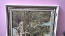 """Vintage Oil on Board, R W Simmons, """"An Old Gum, Wanatta"""" 1983, Signed LRHS"""
