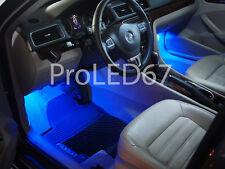 2 ampoules à LED éclairage Sol / Pieds Bleu  pour Volkswagen Polo IV 9N  9N3