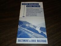 JULY 1959 BALTIMORE & OHIO SCENIC HIGHLIGHTS ALONG THE B&O BOOKLET