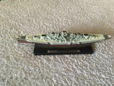 Atlas Edition Warship Bismarch Model Ship On Base