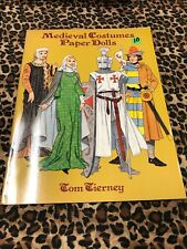 Medieval Costumes Paper Dolls Tom Tierney 1996