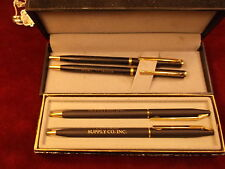 PAIR OF NOS, VINTAGE WRITING PEN, MECHANICAL PENCIL SETS, ADVERTISING, BEST WISH