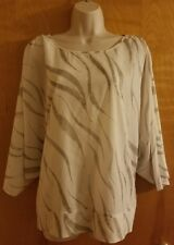 NEW Chico's 3/4 sleeve blouse Tigress Brielle size 2 12/14 MSRP $89.00 NWT