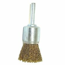 Josco CRIMPED CUP BRUSH 25mm 2Pcs Brass Coated High Carbon Steel Wire*Aust Brand