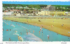 Somerset Postcard - The Sands and Hill - Weston-super-Mare - Showing Houses XX92