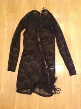 SEXY ANN SUMMERS KEISHA BLACK LACE TIE UP DRESS UK SIZE 12 BNWT RRP £40
