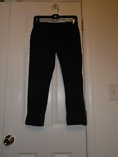 J BRAND JEANS BLACK FOREST MARTI CROPPED CAPRIS TROUSER COTTON PANTS SIZE 24