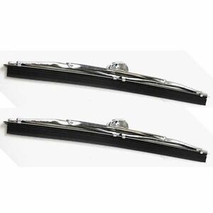 """8-1/4"""" Wrist Type Polished Wiper Blades 1937 - 1940 Ford Car - 1 Pair UNIVERSAL"""