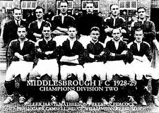 Middlesbrough équipe de football photo > saison 1928-29