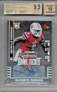 2015 CONTENDERS DRAFT DEVANTE PARKER BOWL TICKET FOIL ROOKIE AUTO 71/99 BGS 9.5