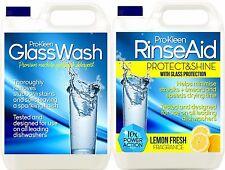DISHWASHER MACHINE GLASS WASH FLUID DETERGENT LIQUID RINSE AID GLASSWARE SHINE