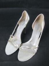 GUESS BY MARCIANO GOLD GERRI LEATHER SLIM HEEL STRAP WOMENS 8.5M EUC