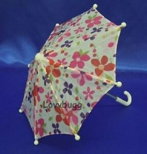 """Flowers Umbrella for 18"""" American Girl or Wellie Doll Accessories US SELLER! 🐞"""