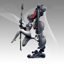120mm 1/20 resin Figures model kits sexy Fantasy Music queen and Her cello F2484