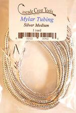 Pearl Mylar Tubing Medium SILVER