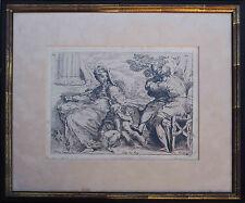 Gravure XVIII° d'après un dessin du PARMESAN (1503-1540) Sainte Famille