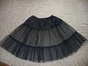 Petticoat   Gr. 36 - 40 schwarz  50er Jahre, Rockabilly Tüllrock