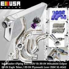 Intercooler+Piping Kit+BOV fit90-94 Mitsubishi Eclipse GSX GST 2.0 DSM 1G 4G63