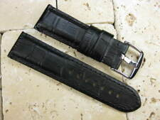 24mm XL Grain Leather Strap Black Watch Band PAM Extra Large Size BKB