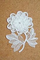 Christmas sew-on lace motif//appliqué//patch//craft//card making Tree /& Candles