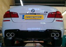 BMW 535D,F10,QUAD REAR EXHAUST CONVERSION,STAINLESS STEEL EXHAUST,FITTED