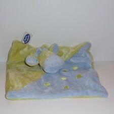 Doudou Girafe Mots d'enfants - Vert Bleu