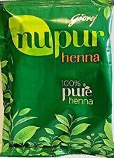 GODREJ Nupur Henna Mehndi Mehandi Herbal Hair Color Colour Hair Dye Powder + FS