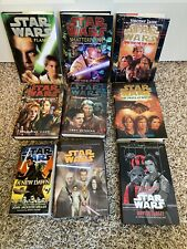 9-Lot Star Wars Books: Shatterpoint, Tatooine Ghost, New Dawn Most 1st Ed!