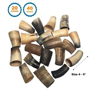 Beef Horns - 100% Natural Long lasting Horns for dogs | 4 to 5 inch