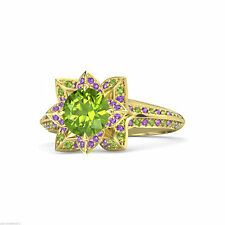 Peridot Wedding Sterling Silver Fine Gemstone Rings