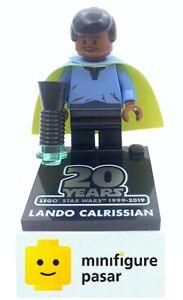 sw1027 Lego Star Wars 75259 Lando Calrissian 20th Anniversary Minifigure w Stand