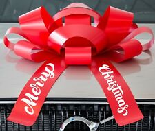 """CarBowz Big Merry Christmas Car Bow, Giant 30"""" Bow, Non Scratch Magnet, Big Bow"""