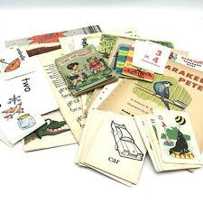 Vintage Childrens Book Paper Ephemera 50+pc Lot Flash Cards Junk Journal Collage