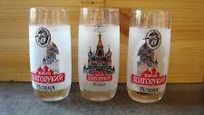 Three Russian vodka shot glasses