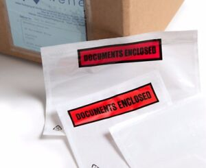 Documents Enclosed Pouches, Self Adhesive, various sizes and qtys available