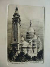 gravure 19°:eau forte originale:Paris:Notre-Dame/Sacré-Coeur/de Ch.Pinet (3 pla)