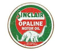 Sinclair Oil Opaline And Gas Round Tin Sign Dinosaur Metal Poster Wall Art
