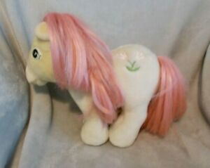 """Vintage 80s My Little Pony - 9"""" Tall Yellow Posey Tulips Soft Plush Toy Teddy"""