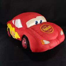 """Disney Store  Pixar Cars Lightning McQueen Plush Stuffed 12"""" Red Corvette"""
