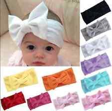 Cute Girls Kids Baby Big Bow Hairband Headband Stretch Turban Knot Head Wrap