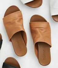 NEW Free People Bueno Shore Thing Slide Sandals Size 36 6 Tan Leather