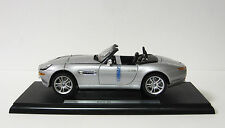 BMW Z8 Convertible Diecast Model Car - 1:18 Scale - Welly Metal Series - Silver