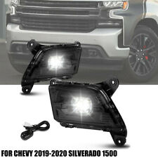 SMOKED LED Front Driving Fog Light+Switch For CHEVY 2019-20 SILVERADO 1500 PAIR