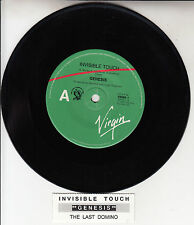 "GENESIS  Invisible Touch PHIL COLLINS 7"" 45 rpm record + juke box title strip"