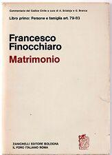 Francesco Finocchiaro MATRIMONIO Zanichelli 1971-L4790
