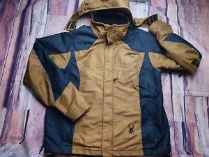 Spyder Jacket Mens Medium Xscap Shell Brown Black No Lining Shell Only